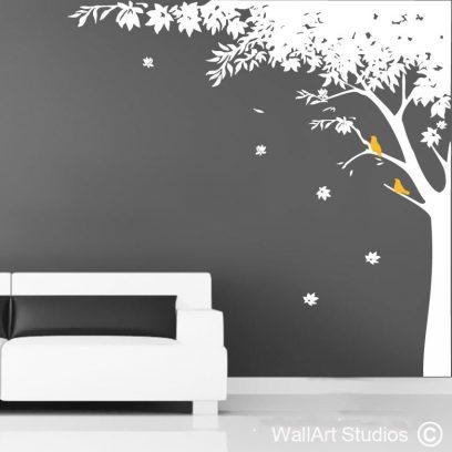 Sweet Gum Tree wall art decal, gum tree wall sticker, tree wall art, custom tree wall art