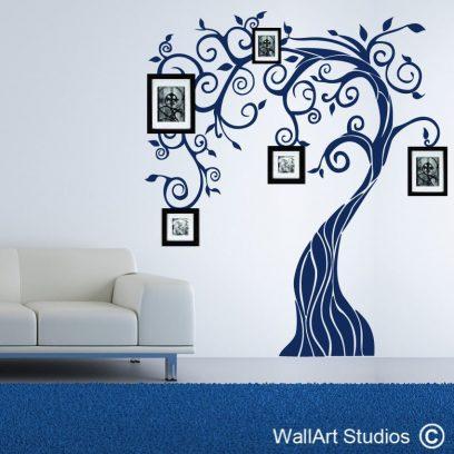 Nouveau Tree wall decal, tree wall art stickers, custom tree wall art, tree silhouette