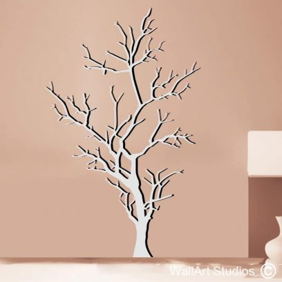 Barren Tree wall decal, tree wall stickers, custom tree designs, tree silhouettes