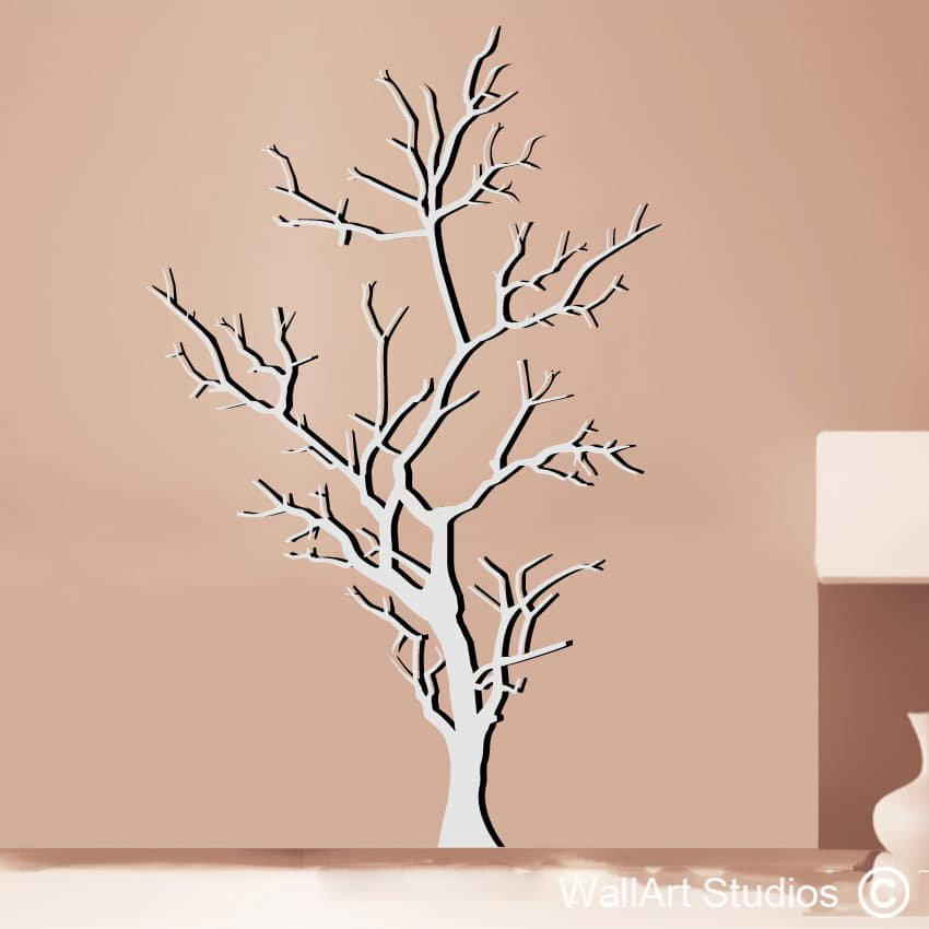 Barren tree wallart studios for Tree wall art