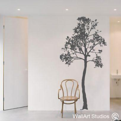 Poplar Tree wall art decal, Poplar Tree wall art stikcer, tree wall art, tree silhouettes, wall decals, home decor, nature wall art