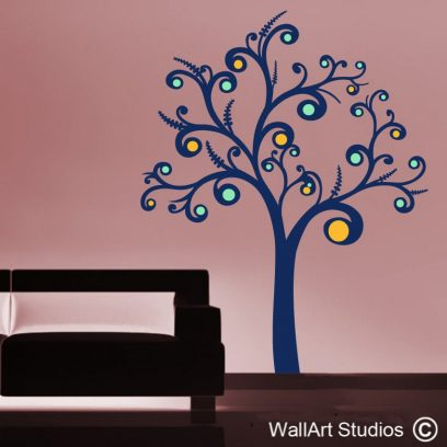 Oh So Retro wall art decal, wall art stickers, retro, retro tree decal, retro designs, retro wallart, custom retor designs, custom wall art decals,