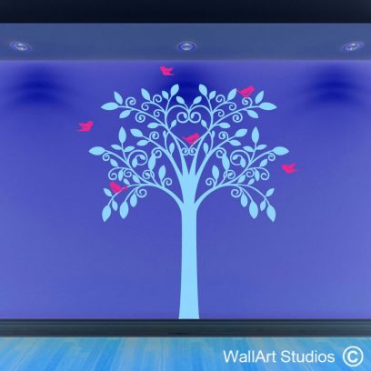 Deco Tree wall art decal, deco wall art stickers, retro wall art, funky trees, custom wall art