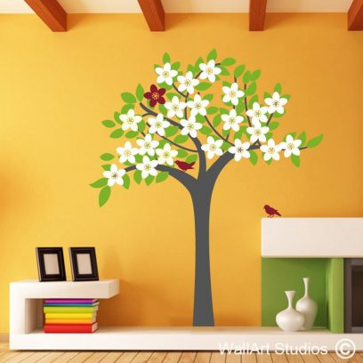 Spring Tree wall art decal, spring tree wall stickers, tree wall art, wallart, custom wallart