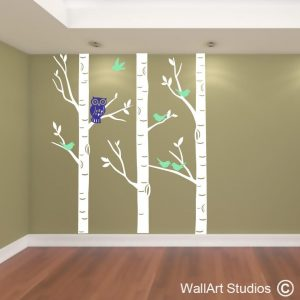 forest, trees, wall art, wall stickers, wall decals, custom wall art