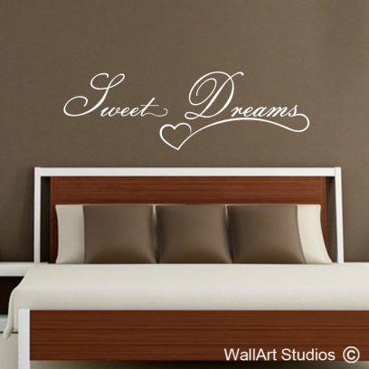 Sweet Dreams wall decal, sweet drema are made of this, removable wall decal, wall art stickers, vinyl wall art dream decal, dreams, sweet, hearts
