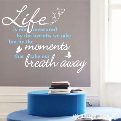 Life Moments, breath, decal, sticker, wall art, custom decal, home decor, wall ideas