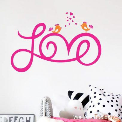 Love Wall Art Decal, Love sticker, Love vinyl, Love, Love is wall decal