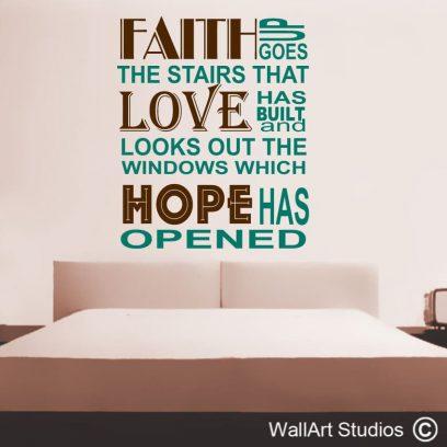 faith love hope, Faith, Love , Hope, church decor, wall decals, stickers, bible, religion