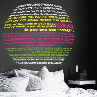 Makes you think wall art decal, dna wall decal, science wall stickers, wallart quotes, daily quotes in wall vinyl, wallart stickers and decals