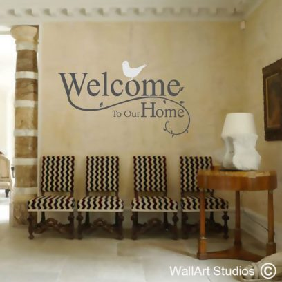 Welcome to our home wall art decal, welcome sticker, wall art decal, custom wall art