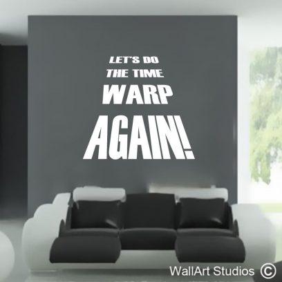 Rocky Horror wall art decal, rockky horror wall art sticker, time warp wall tattoo, lets do the time warp again, rocky, horror, time