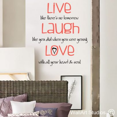 Live, Laugh, Love wall art decal, live laugh love wall sticker