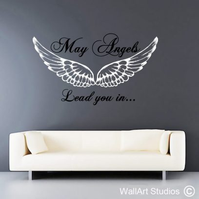 May Angels leadd you in, wall art angel decals, wallart vinyl wall quotes, angels, angel art, religious wall art decals, cape town, johannesburg