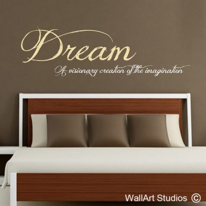 Dream wall decal, dream, wall art, wall art stickers for home, wall quotes, home decor, custom wall decals