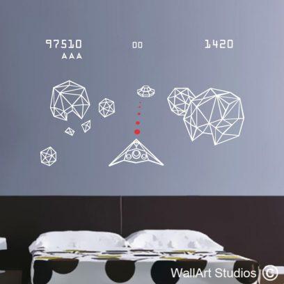 Asteroids wall art vinyls