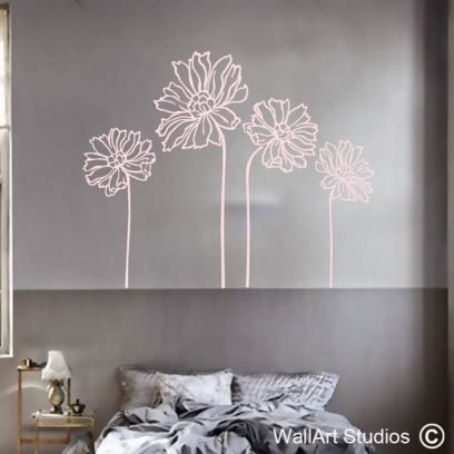 Daisy's wall art stickers and decals, daisy decals, floral wall art stickers, floral wall art decals