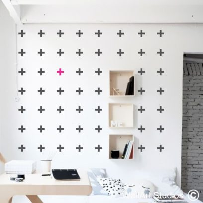 crosses, wall art stickers, decals, modern, trending