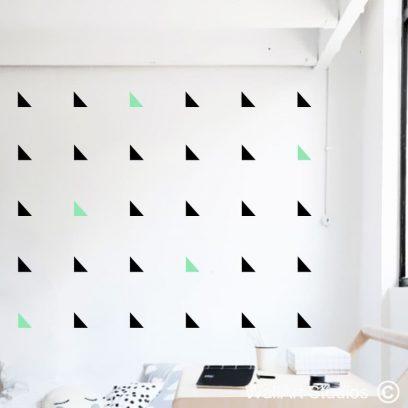 Triangles wall art stickers, modern decals,