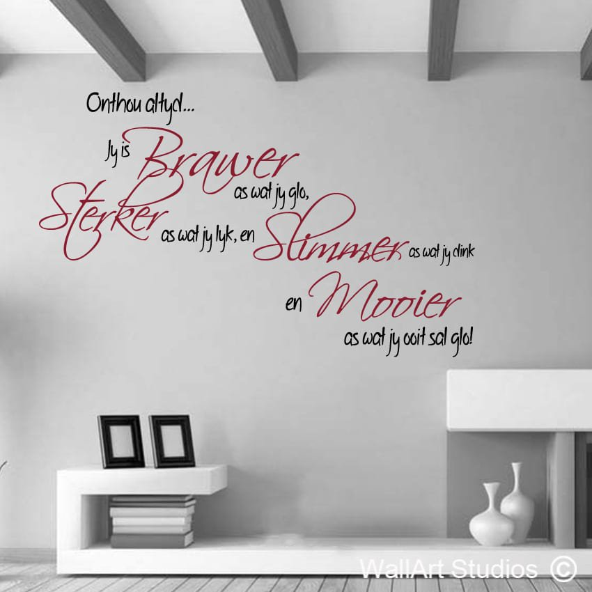 wall art south africa afrikaans a wall decal
