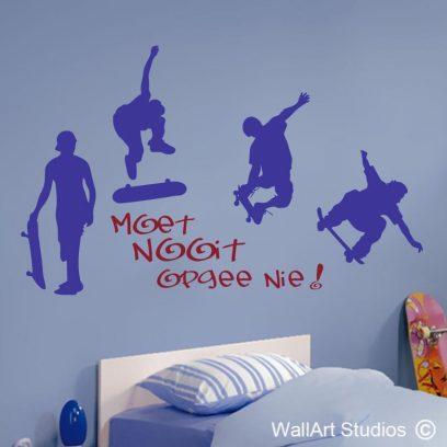 skaatsplank ryers skateboard wall art