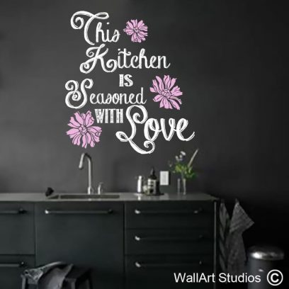 Kitchen Seasoned With Love Wall Decal