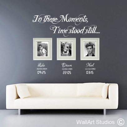 moments in time, wall art stickers, decals, family, photoframes,