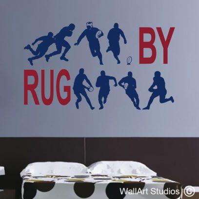 rugby,wallart,boys,stickers,decals