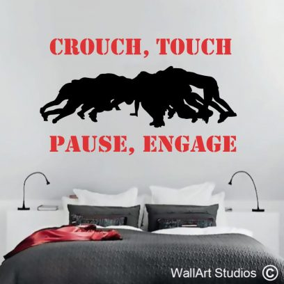 rugby scrum, players, sports, scrum, wall art decals, stickers,