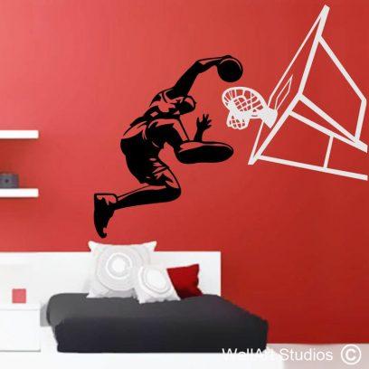 slam dunk basketball sport player wall art sticker decal