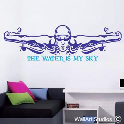 swim swimmer sport wall art sticker decal