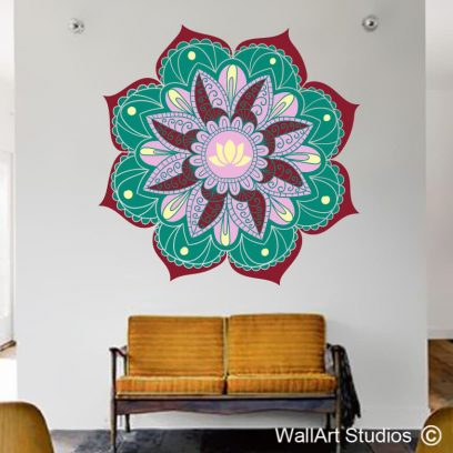 Lotus Mandala Wall Art Sticker