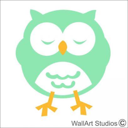Owl, Nursery wall decla, Owl 5 wall sticker, owl DIY wall decals, birds wall art, animal wall decor, nursery decor