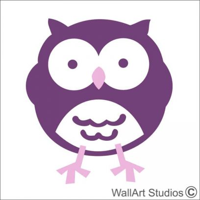 Owl 6 nursery wall art, owl wall stickers, owl nature for boys room, owl wall art decals for girls room