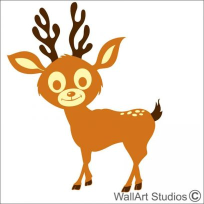 reindeer bambi decal,nursery bambi decal, reindeer stickers, boys room wall art decals, girls room wall art stickers,