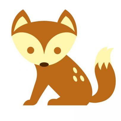 Cute Fox wall decal, nursery wall decal, nursery wall art vinyl sticker, fox sticker for girls, fox deal for boys room, DIY wall art stickers, home decor fox