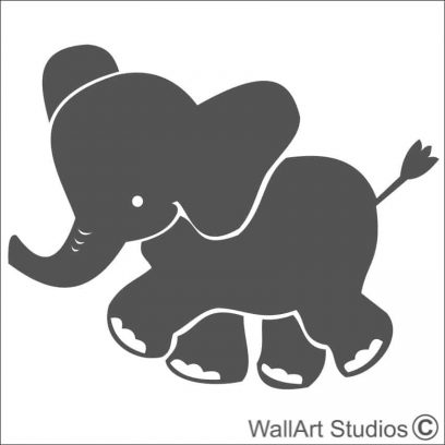 Baby Elephant wall decals, elephant wall stickers, elephant wall decals for nursery, DIY wall stickers, DIY wall decal