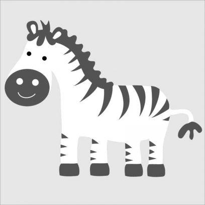Cute Zebra nursery decal, zebra wall stickers, zebra design for boys, zebra wall art for girls room, cute zebra wall sticker