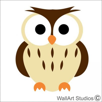 owl 1 wall art stickers, custom wall art , design your own decal,