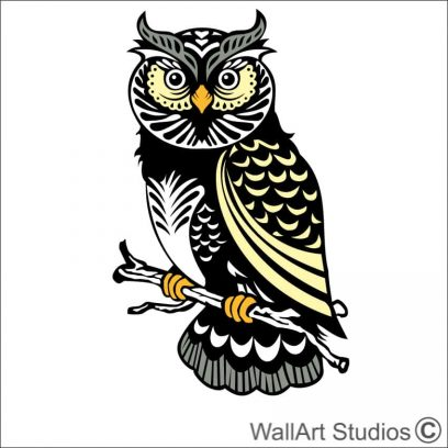 owl 2 wall decals, wise owl wall art designs, diy wall art stickers, create your own custom wall art, vinyl decals, custom wall art owl designs