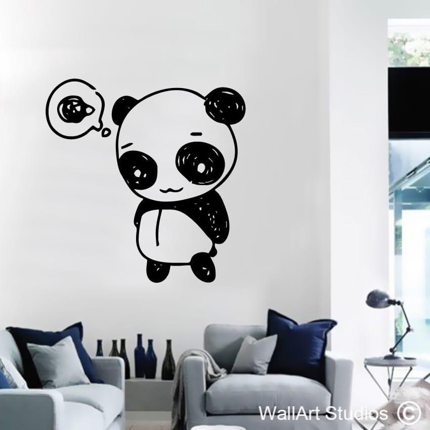 Funky panda wallart studios for Funky wall art