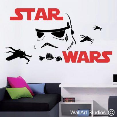 Star wars vinyl decals, star wars the force awakens stickers, star wars stormtrooper wall art decals