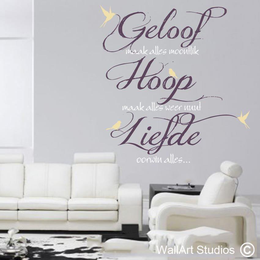 Geloof, Hoop, Liefde | Wallart Studios