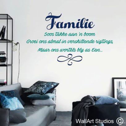 Familie MuurPlakkers, wall tattoos, afrikaans, stickers, decals, custom, family, wall art, vinyl