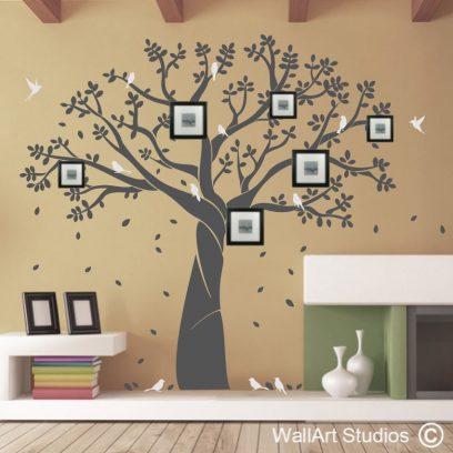 Family Photo Tree wall art decals, family tree wall stickers, tree wall tattoos, wallart studios