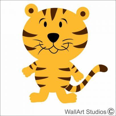 Tiger Baby wall art decal, nursery room wall stickers, safari theme nursery decals, nursery african theme wall stickers, wallart studios