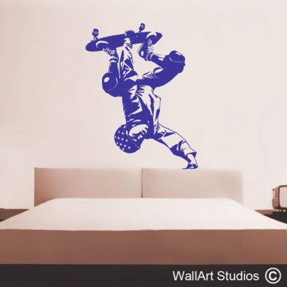 trick skateboarder, skateboard wall art,stickers, cusotm wall decals