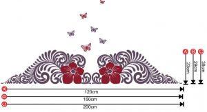 DD29 Nouveau Deco Floral Butterflies size