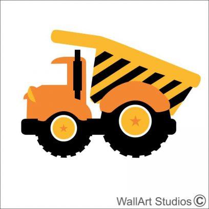 Tip Truck Construction vehicle, construction truck wall stickers, construction wall art decals, bopys wall art, boys room decor, lego