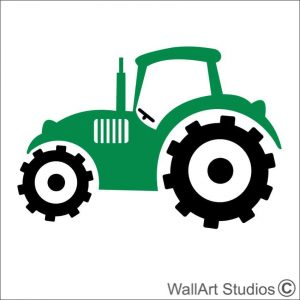 Farm Tractor wall art decal, fram wall stickers, vinyl wall art, boys room decor, cusotm wall art stickers, custom tattoos, john deere tractor, contruction stickers